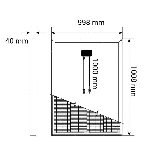 150Watt Polikristal Güneş Paneli (Yatay)1