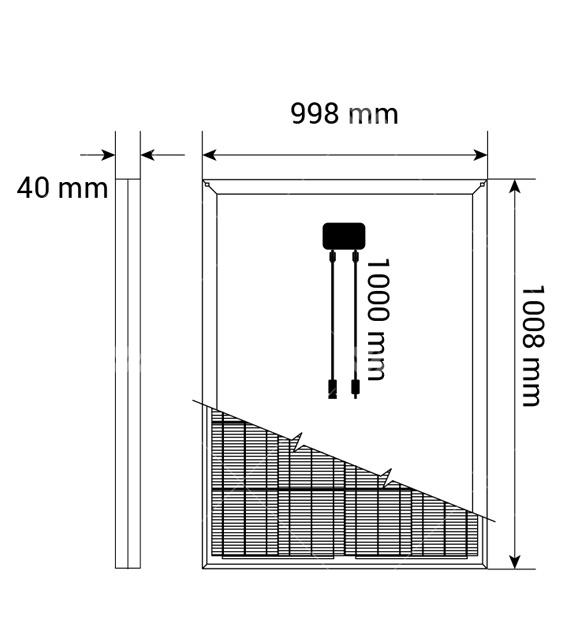 160Watt Monokristal Güneş Paneli1