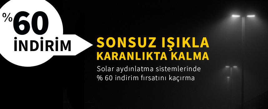 güneş enerjisi ile solar aydınlatma