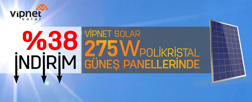 270w güneş panellerinde %40 indirim