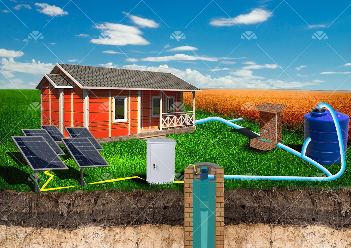 Solar Sulama Paketi Pompa Gücü 10 HP