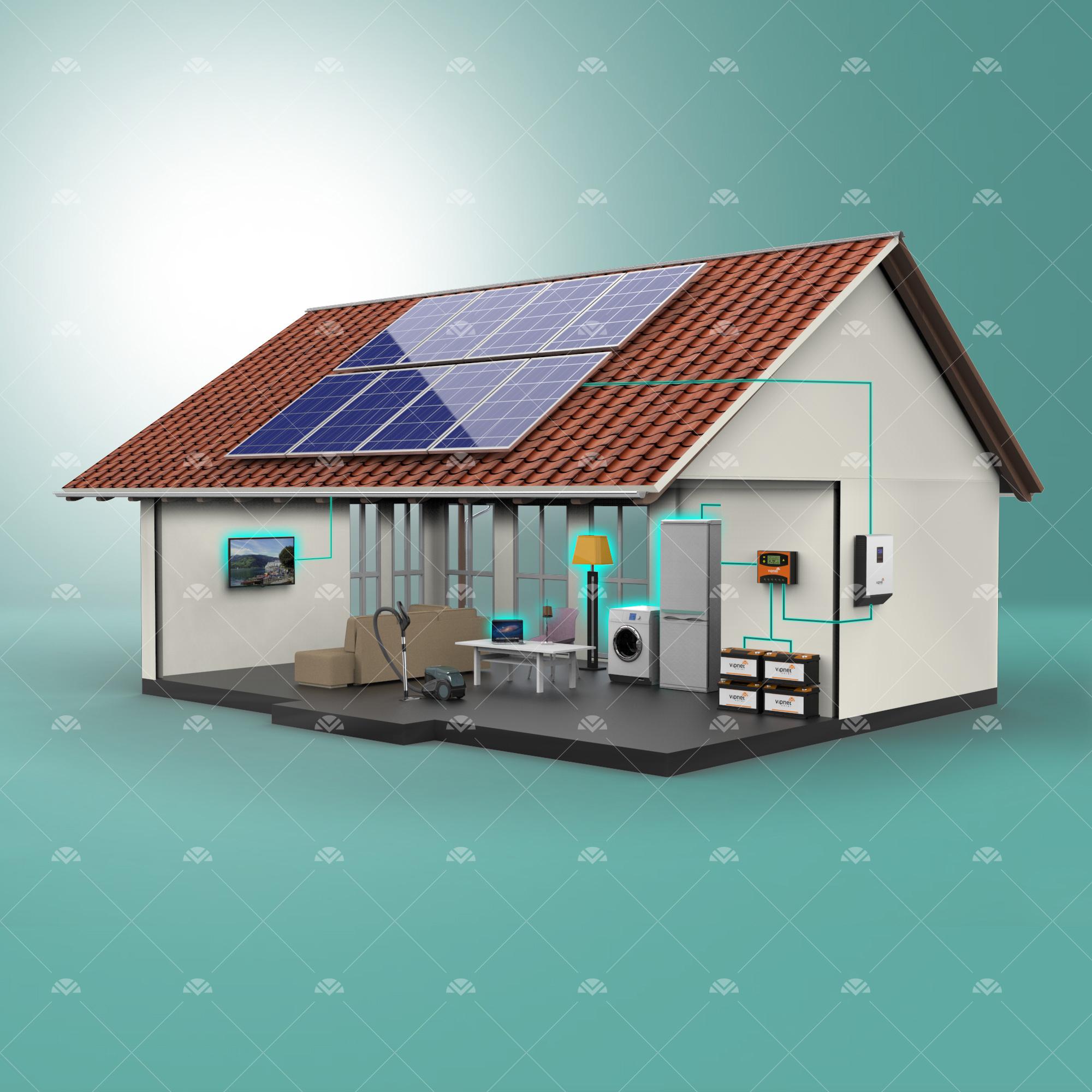 Solar Paket 5-lambalar, tv, süpürge, büyük buzdolabı, çamaşır makinesi, ev aletleri, su pompası