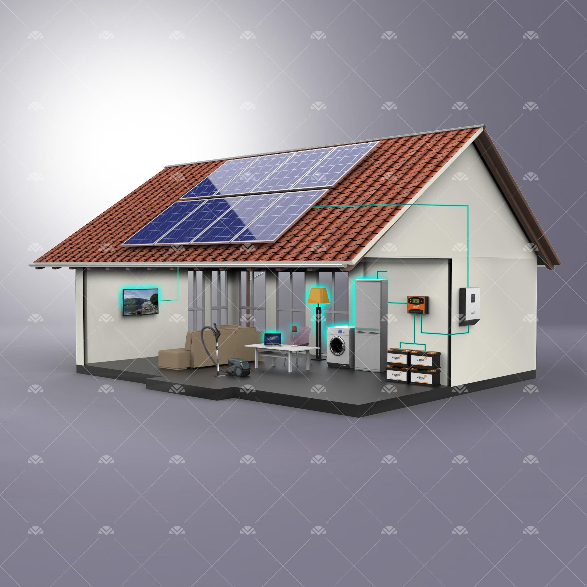 Solar Paket 6-lambalar, tv, süpürge, büyük buzdolabı, çamaşır makinesi, ev aletleri, su pompası
