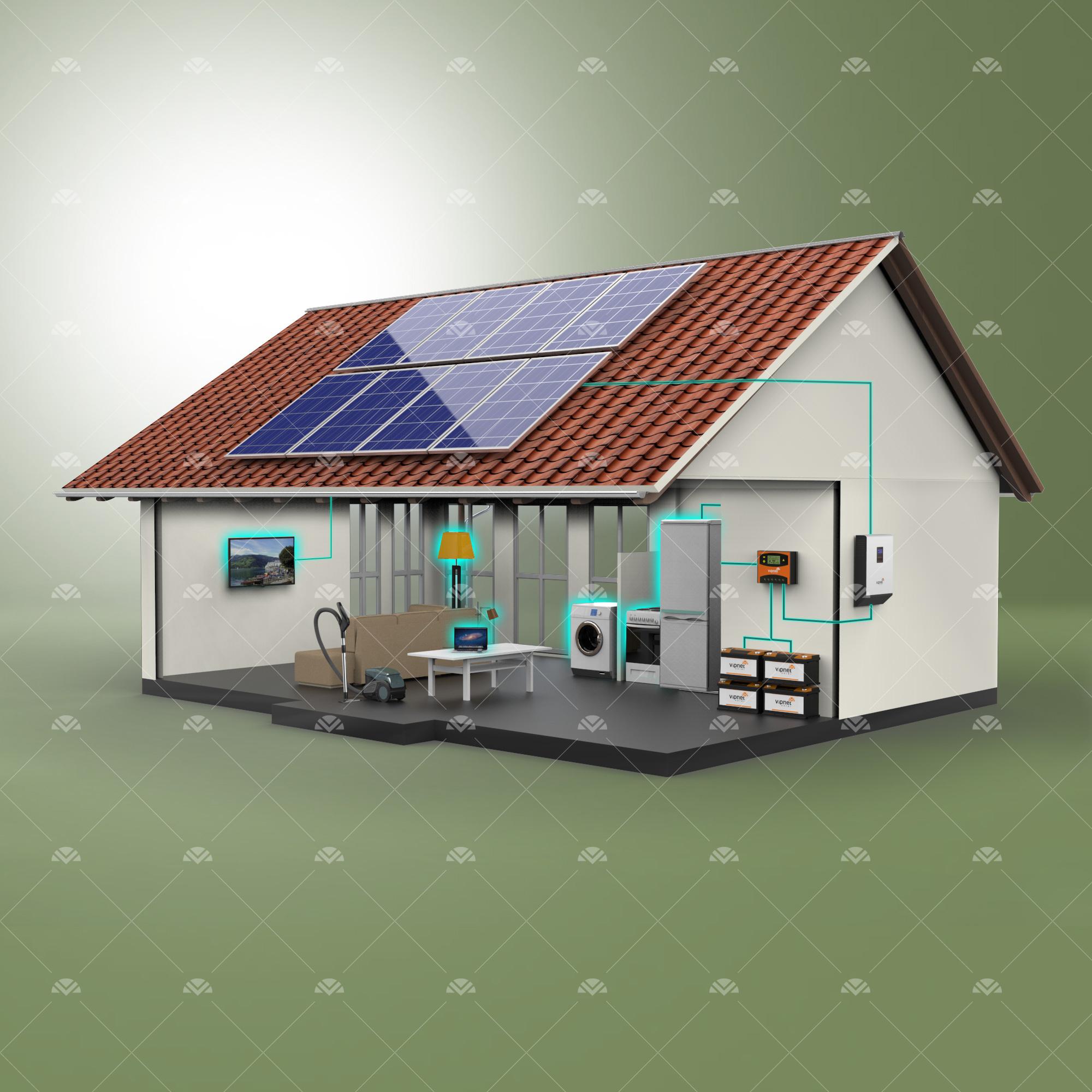 Solar Paket 7-lambalar, tv, süpürge, büyük buzdolabı, çamaşır makinesi, ev aletleri, su pompası
