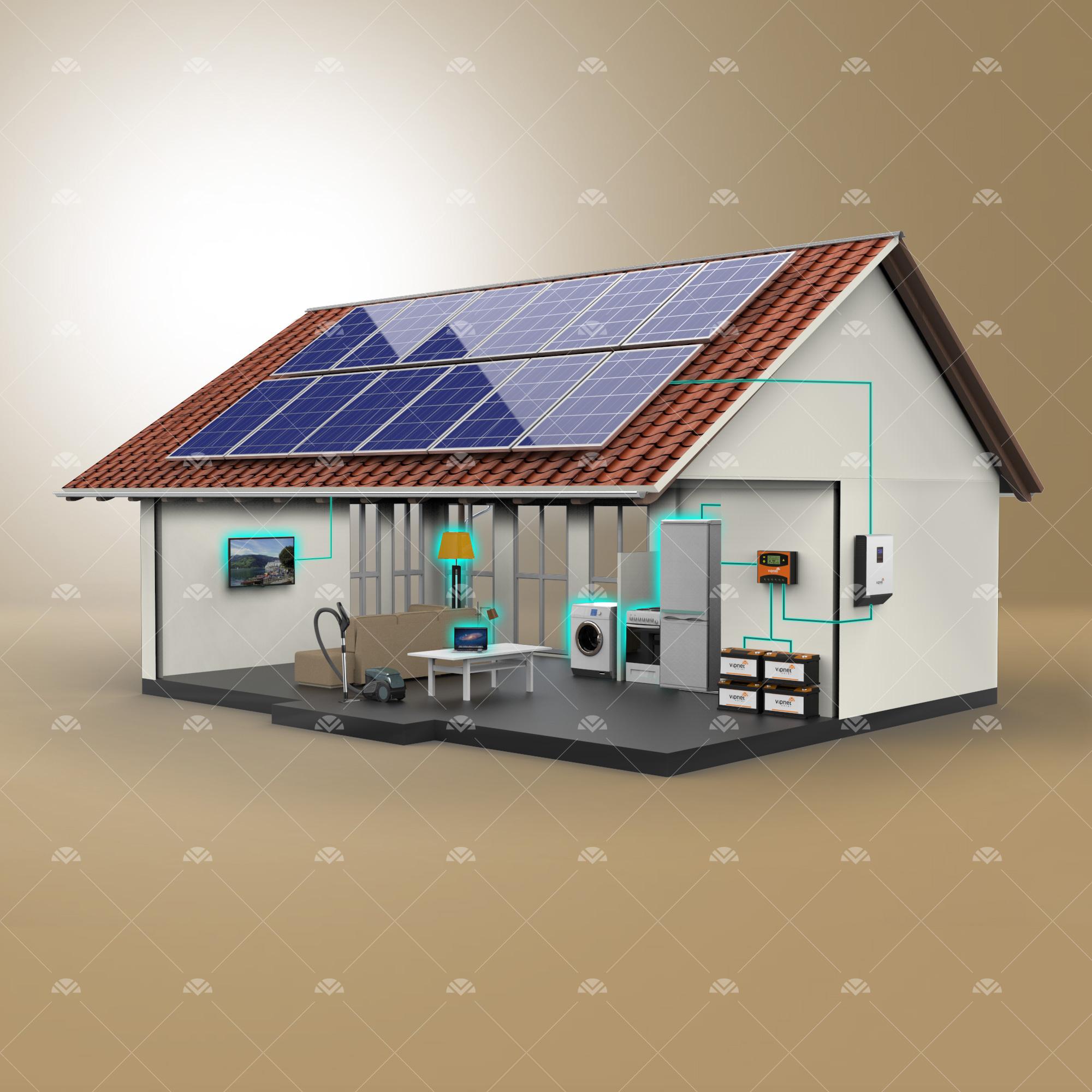 Solar Paket 8-lambalar, tv, süpürge, büyük buzdolabı, çamaşır makinesi, ev aletleri, su pompası