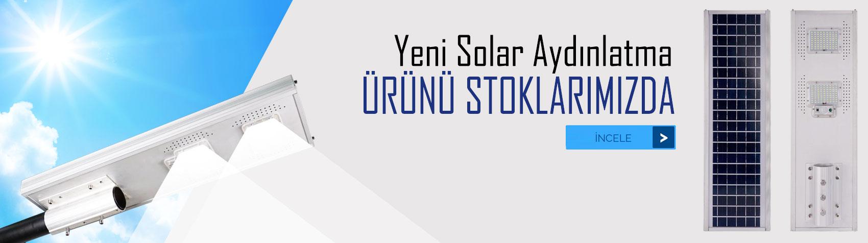 Yeni solar led lamba yaz, kış aydınlatmaya devam eder